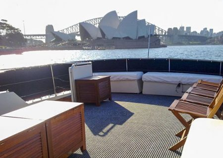 sydney harbour from boat