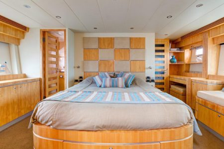 beautiful bedroom on a boot
