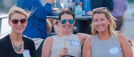 females enjoying corporate cruise